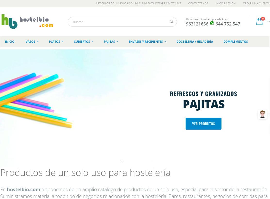 hostelbio.com productos de unn solo uso para hosteleria